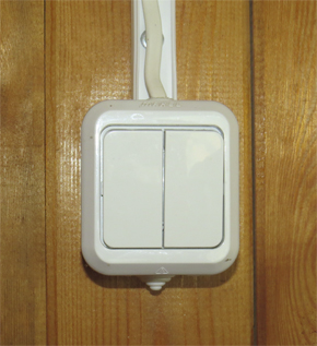 Монтаж двухклавишного выключателя